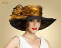 wholesle moda chapéus vestido para festa e casamento senhoras chapéus igreja