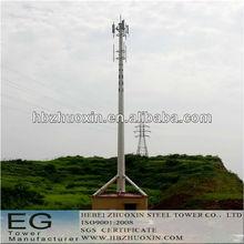 octogonal de telecomunicaciones multifunción de acero de una sola torre monopolo