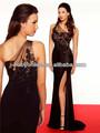 Nuevo concurso de llegada de un hombro piso-longitud Tren de las mujeres del cordón del vestido de noche Corte Red Carpet