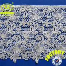 ( fábrica yjc067) de pestañas de prendas de vestir de corte del cordón de poliéster blanco
