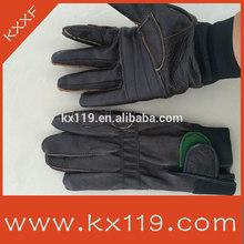 brown anti pinchazo de cuero a prueba de pinchazos guantes