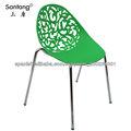 Plásticas sillas del estilo moderno para jardín y el restaurante con colores brillantes