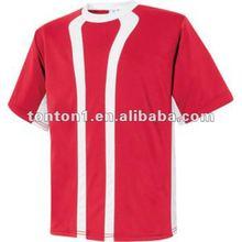 venta caliente de encargo rojo camiseta de fútbol