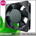 2014 Nueva 120mm ac refrigeración ventilador para el panel de control axial