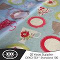 20 anos fabricante cor azul tecido cortinas da cozinha