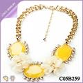 collares europeos elegantes para mujeres de moda collares con flores amarillos