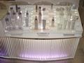 multicapa elegante pantalla cosmética de acrílico clara