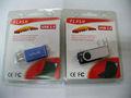 emballage blister en plastique transparent pour USB, emballage blister lecteur flash USB personnalisée avec la carte imprimée,