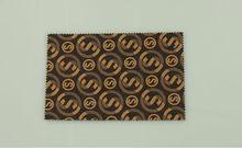 monograma impreso de pvc de cuero sintético para el sofá bolsa papel pintado de muebles