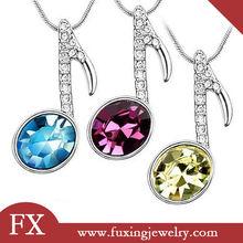 nuevos productos calientes 2014 para de acero inoxidable joyería de moda de gran collares de piedras preciosas