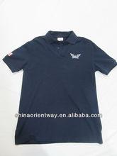 venta al por mayor a mano el logotipo de la costumbre occidental de polo de los hombres camisas bordadas