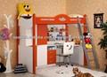 z-18 # con altillo niños cama litera con escritorio