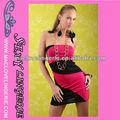 Patrones ML17780 Moda Verano Corto Frock maduro rojo vestido de fiesta