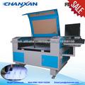 Nuevo diseño! Tela irregular de corte por láser de la máquina con vídeo cameral 0086 18351103200