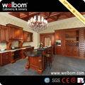 Welbom tradicional armário cozinha em madeira maciça desenho