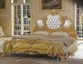 Barroco muebles sólido juego de dormitorio de madera tallada a mano estilo
