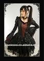 Punk rave china atacado gothic queen elegante bordado design dresse made in china q-106