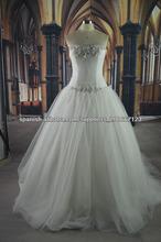 Nuevo encaje moderna Cenicienta vestidos de novia