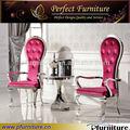 antiguo de acero inoxidable silla de comedor de banquetes sillas baratas de antigüedades de metal silla del banquete mtc1027