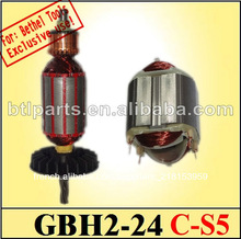 Bosch gbh 2-24 dsr, gbh2-24 bosch., bosch. 24& armature stator pour outillage bosch gbh2-24 rotor