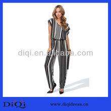 2014 de las señoras de moda de rayas formal mono( dq9138)