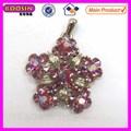 Transparent cristal rose fleur de vie chakra pendentif gros #12697 pour faire des collier