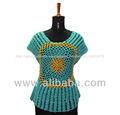 Crochet largo superior/blusa/suéter
