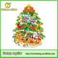 Festival de artículos de fiesta papel pintado del árbol de navidad con decoraciones para el hogar/la escuela/supermercado