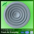 ronda de climatización de aire rejilla de difusores de techo difusor de aire