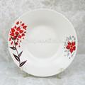 Soleado porcelana plato de sopa, ronda de cerámica de la cena plato de venta al por mayor