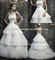 wh031 2013 sem alças de cetim dentro do laço mais com faixa de cetim camadas saia novo modelo 2013 vestido de noiva