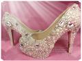 zapatos de boda cristal de tacón alto bombas boda para la fiesta nupcial zapatos de vestir 5.5 talón pulgadas