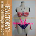 The Stars and Stripes Bikini Set Copa do Mundo 2014 bandeira biquíni swimwear maiô W359453