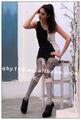 Impreso personalidad de la moda pantyhose
