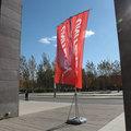 gran promoción de banderas y pancartas