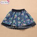 Baby girl falda de verano de la flor de la moda falda de encaje 3-7 para niña