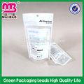 Stand up pouch saco plástico com fechos-éclair