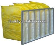longue durée de vie de haute qualité en fibre de verre jaune f8 Plissé filtre à air