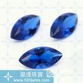 sintético azul zafiro y piedras preciosas