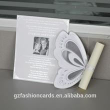 singular 2014 blanco roto de la mariposa de cumpleaños tarjetas de felicitación