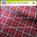 hilados teñidos cheks diseño de tela de la camisa de algodón egipcio
