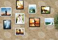 tampo da mesa ou fixado na parede do casamento photo frame