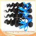 28 pulgadas baratos sin procesar sueltas virgen profunda ola de peinados tejer