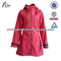 ss2014 design de mode slim fit pu dame long manteau de pluie