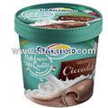 Helado de chocolate- crema