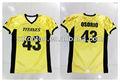 personalizado sublimación de color amarillo ropa de fútbolamericano