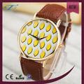 Genève montre de citron mode citron regarder grand cadran montre en or