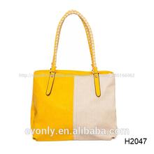 h2047 amarillo blanco y las mujeres de color bolsas de la compra