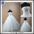 jj0068 vestido de bola pesada ucrania rebordear vestido de novia