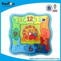 Colorido 3d juguetes de madera venta al por mayor para los niños puzzles/rompecabezas reloj de juguete
